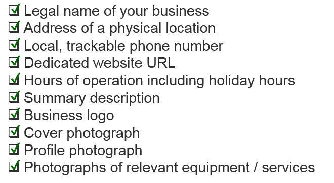 google local checklist