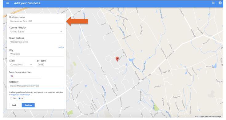 Google Local Input