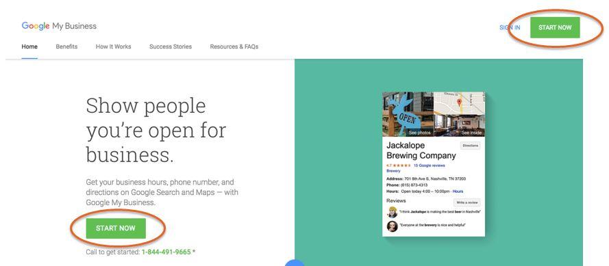 Google Local Start Now